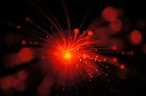 Optisk fiber för snabb datatrafik
